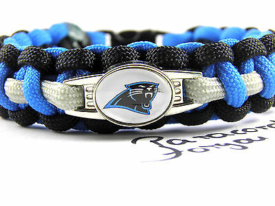 Caroline Panthers Paracord Armband mit NFL Charm-Frauen-Super Bowl
