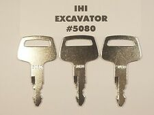 3 Ihi Key Excavator Construction Heavy Equipment Ignition Key Free Shipping