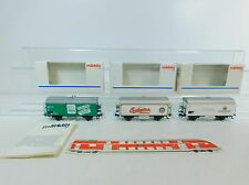 AU538-0,5# 3x Märklin H0/AC Carro merci: 4422 CD+4418 DR+4425 Vivil DB, W+