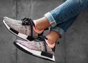 buy online ffff1 8235b Image is loading Adidas-NMD-R1-PK-W-Core-Black-Clear-