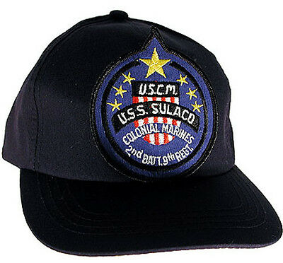 Alien Sulaco Crew BLACK Trucker/Baseball Cap/Hatw blue patch- UNWORN- FREE S&H