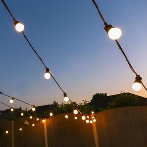 Details About 5 50m Outdoor Connectable Led Festoon Lights Globe Bulbs Party Plug Garden