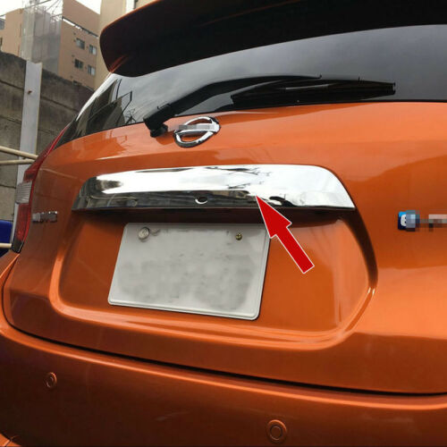 Car Rear Truck Tailgate Upper Trims Fit Nissan Note 2016 2017 Chrome ABS