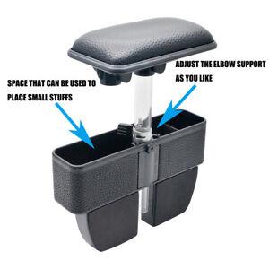 Adjustable-Car-Organizer-Armrest-Storage-Seat-Gap-Filler-Black-for-most-car