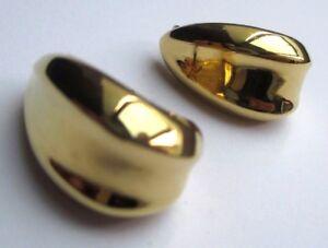 Boucles D'oreilles Percées Bijou Vintage Couleur Or Anneaux Relief 2140 à Tout Prix