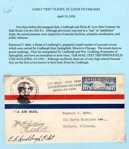 1927-Lindbergh-CAM-2-TEST-FLIGHT-SIGNED-LINDBERGH-Very-RARE