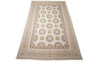Fine-12X18-Aubusson-Rug-Oriental-Wool-Carpet-Floral-French-Design-11-7-x-18-4