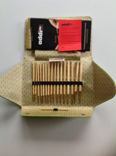 Addi Cliquez sur bambou interchangeables circulaire à tricoter Set