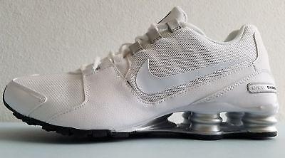 Mens Nike Shox Avenue Premium Sneakers New, White Silver 833583 101 NO BOX | eBay