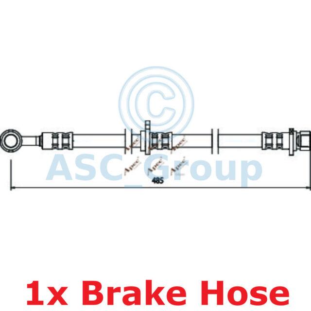 Apec Braking 485mm Disc Brake Caliper Flexible Rubber Hose HOS3506