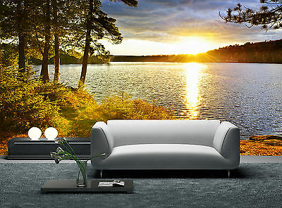 Landscape and Sunset Wall Mural Photo Wallpaper GIANT WALL DECOR PAPER POSTER