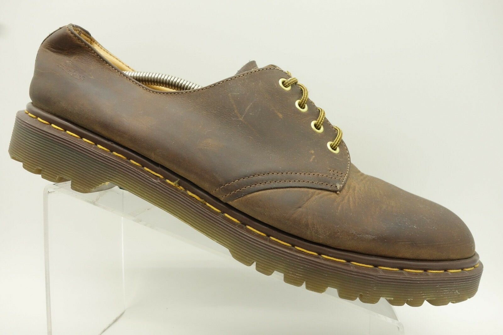 Dr Martens England Brown Leather Lace Up Casual Oxford shoes Mens 14 UK   US 15