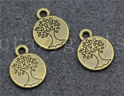 10//50//260pcs Tibetan Silver Beautiful Life tree Jewelry Charms Pendant 15x12mm