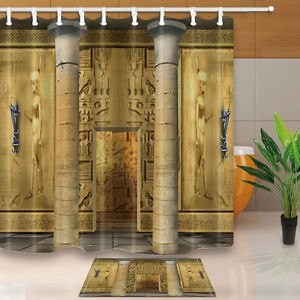 Image Is Loading Ancient Egyptian Temple With Columns And Mural Shower