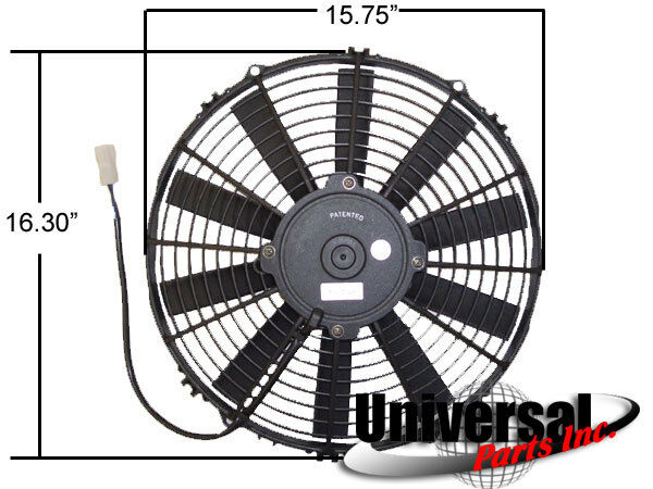 "30100401 16/"" SPAL ELECTRIC PUSHER FAN W// WIRING /& MOUNTING KIT 185FH 30130011"