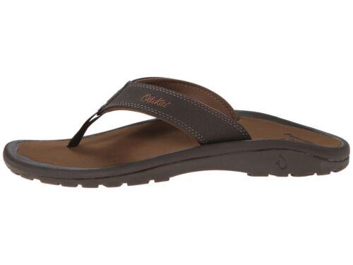 OluKai Ohana Dark Java Men/'s Casual Sandals 10110A-4827