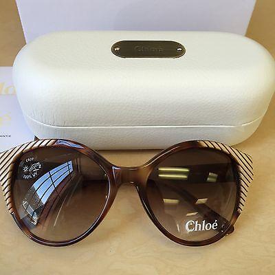 8e84ceb42965 Aunthentic Chloe Sunglasses CL 2247 C02 Acetate plastic Havana Gradient  Brown