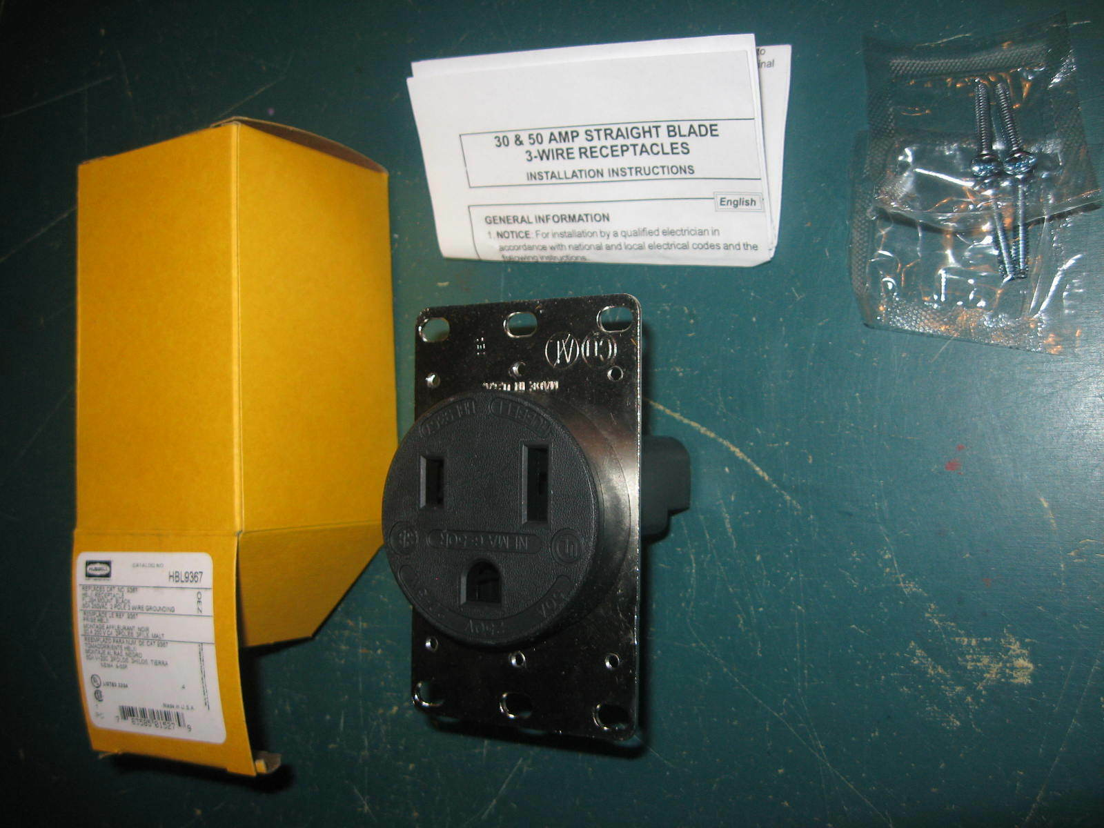 Hubbell Hbl9367 Flush Mount Black Receptacle Replacement Ebay And Industrial 30 Amp Dryer Power With 3wire