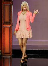 Sold Out Alexander McQueen blush peach textural pucker-knit flounced hem dress