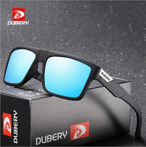 Dubery Homme Sport Lunettes de soleil polarisées Outdoor Riding Carré d/'entraînement verres
