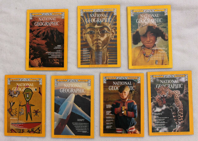 National Geographic 1977; January, March, April, June, August; September