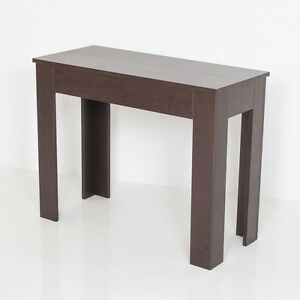 Design Group Magie Blanche Marron Chene Table Console Extensible