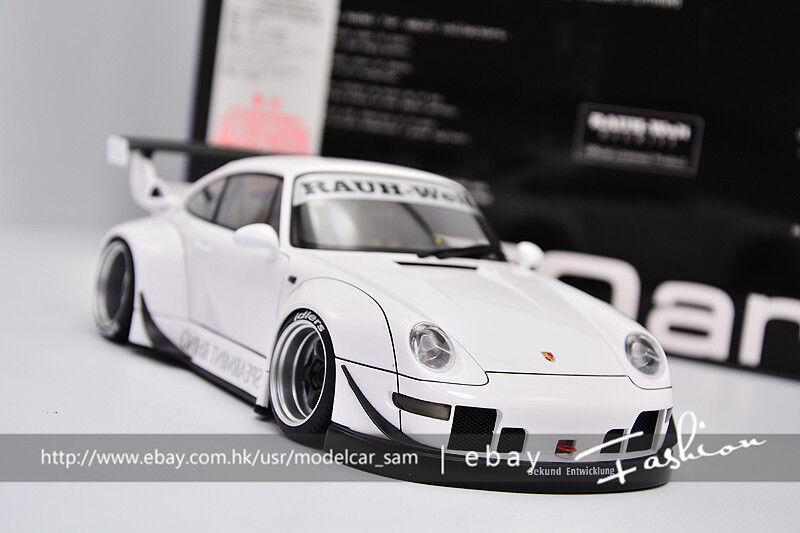 Tienda 2018 Autoart 1 18 Porsche 911 911 911 993 RWB lb blancoo  primera vez respuesta
