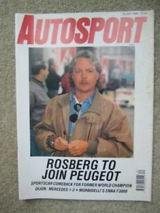 Autosport magazine 26th July1990 - London, United Kingdom - Autosport magazine 26th July1990 - London, United Kingdom