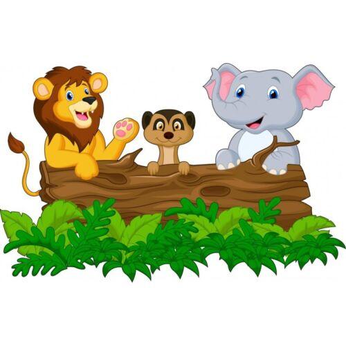 Stickers muraux enfant Animaux jungle réf 15221