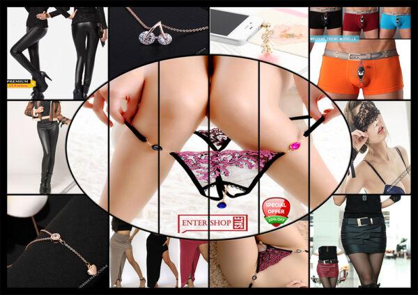 Mini String Tanga Dessous Slip sexy Panty Höschen + Schmuck Reizwäsche XS S M L