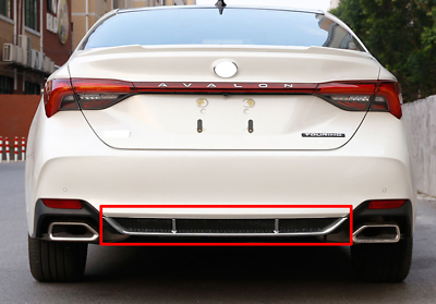 2x Stainless Rear Bumper Protector Sill Guard cover Trim For Toyota Avalon 2019