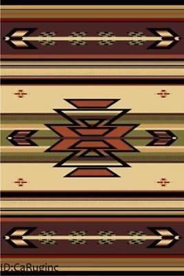 2x8 Runner Rug Southwest Southwestern Design  Medallion Southern Lodge Ivory New