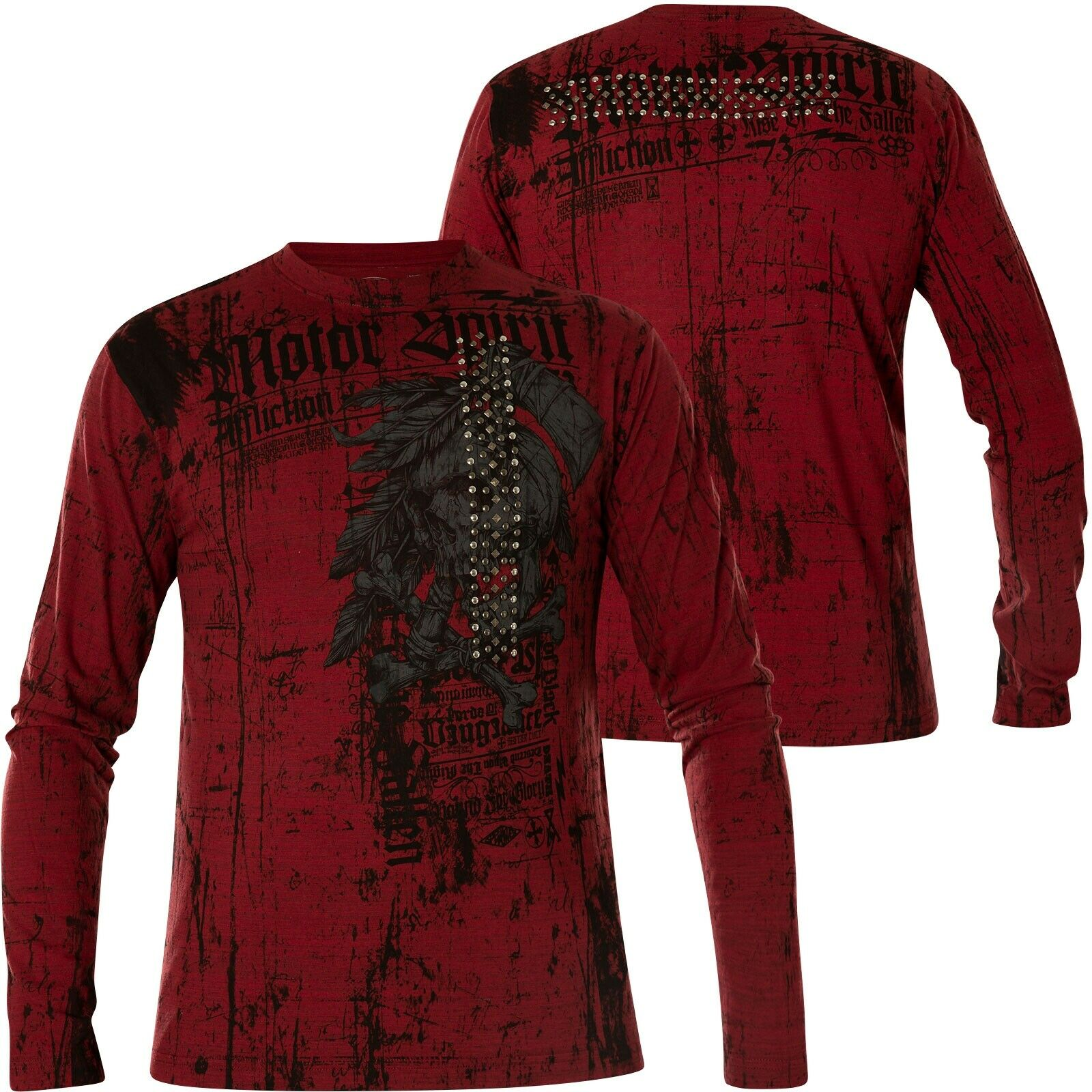 Affliction Thermal Mortal Coil Red