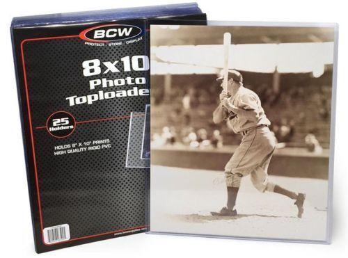 Pack of 25 BCW 8 x 10 Hard Plastic Rigid Topload Photo Holders 8x10 toploaders