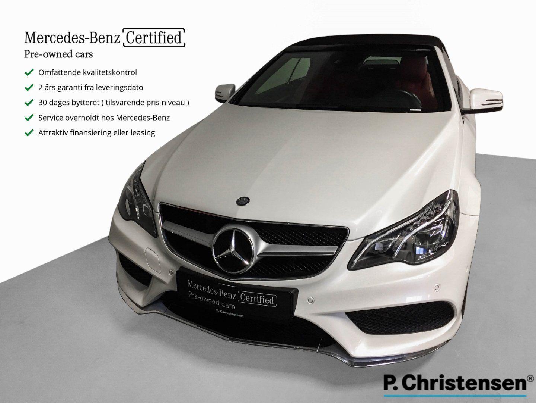 Mercedes E350 3,0 BlueTEC AMG Line Cabriolet aut 2d - 589.900 kr.