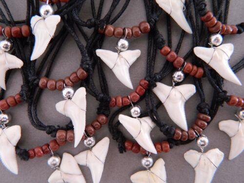 10 Collar de diente de tiburón Tiburones Dientes al por mayor para Hombre Chicos Bolsa Fiesta Reino Unido