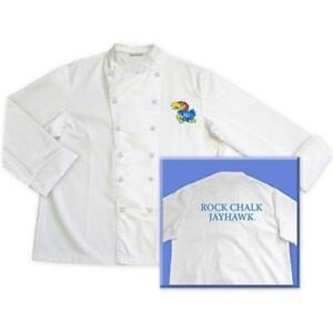 Kansas University Jayhawks Classic Chef Chefs Coat Jacket NCAA Sizes: L XL 2XL