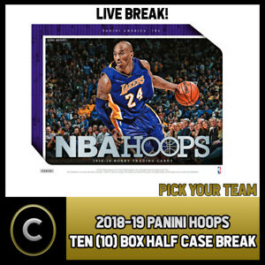 2018-19-PANINI-HOOPS-10-BOX-HALF-CASE-BREAK-B038-PICK-YOUR-TEAM