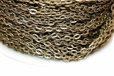 15ft 5x3.3mm Antique Brass Cable Chain links-unsoldered 1-3 day Shipping