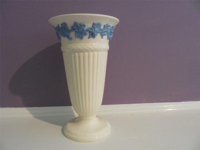 Wedgwood embossed Queensware lavender on cream fluted 6 1/2