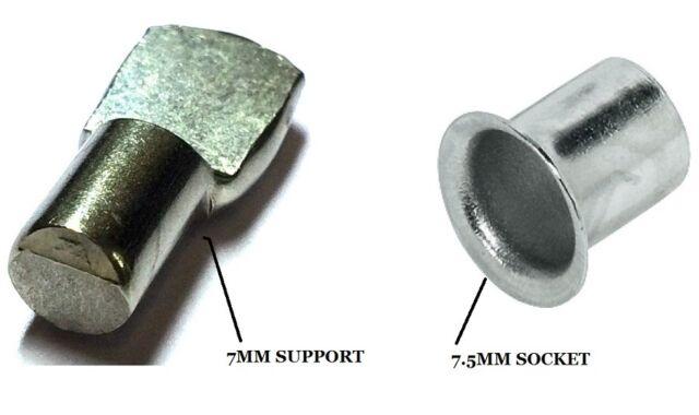 10x BRASS BANJO SHELF STUD HOOKS Support Hafele Sleeves Cabinet//Kitchen//Bookcase