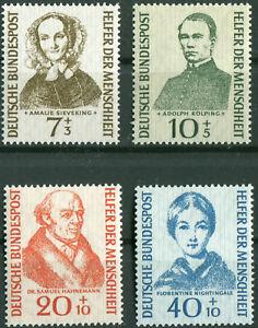 Bund-222-225-sauber-postfrisch-Satz-Helfer-der-Menschheit-BRD-1955-MNH