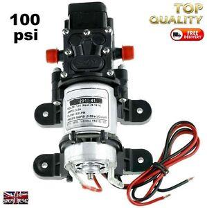 12v-DIAPHRAGM-AUTOMATIC-WATER-PUMP-CAMPER-MOTORHOME-100psi-SELF-BUILD-12-VOLT