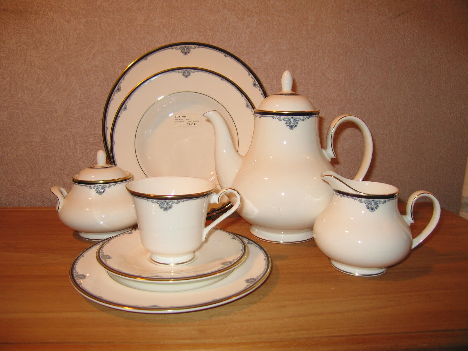 ROYAL DOULTON NEW PRINCETON Set crémier + sucrier Set milk jug + sugar bowl