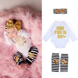 Newborn-Baby-Girls-Romper-Jumpsuit-Bodysuit-Clothes-Leggings-Headband-Outfit-Set