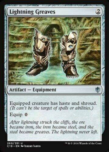 1x Lightning Greaves NM English MTG Commander 2016