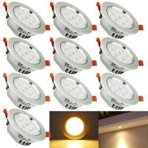 Détails Sur 10x 7w Led Spot Encastré Lampe Encastrée Luminaire De Plafond Salle Bain