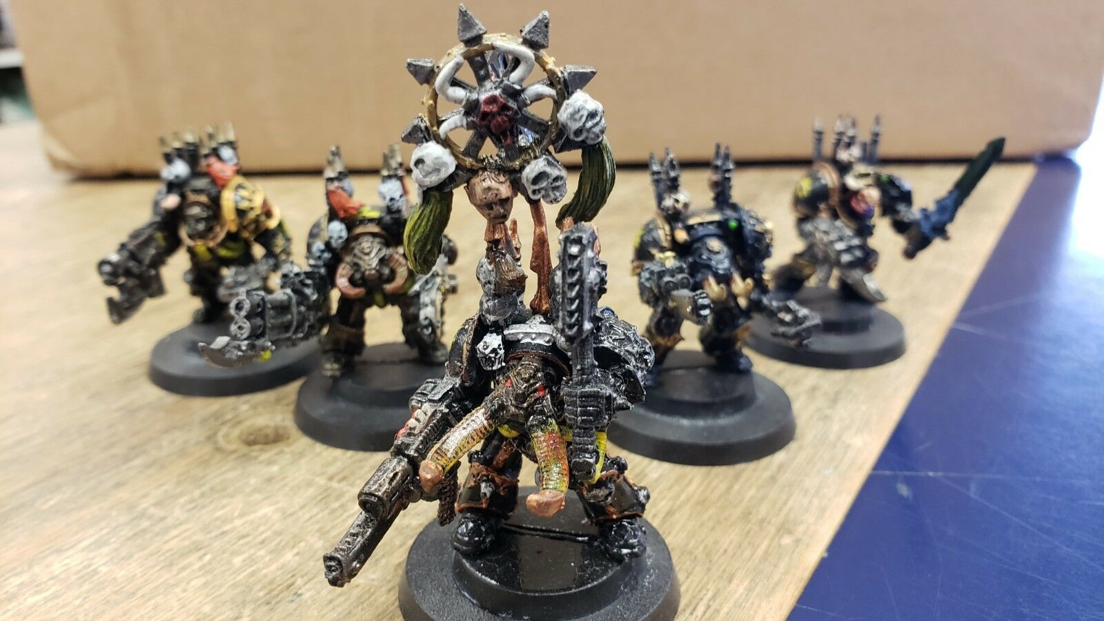 Pre-Painted - Warhammer 40k Chaos Marine Terminator Squad x5