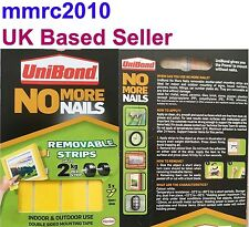 New UNIBOND No More Nails Removable Strips Power Double Side Tape Adhesive Super