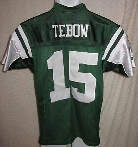 Tim-Tebow-New-York-Jets-Jersey-Size-YOUTH-Large-sewn-by-Reebok